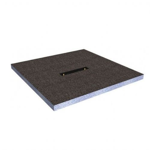 Abacus Elements Linear Square Shower Tray With Centre Drain - 1200mm Wide